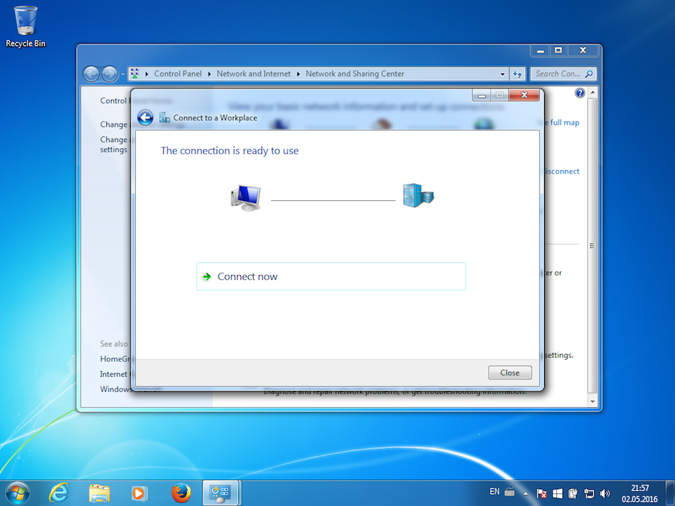Setting up IKEv2 VPN on Windows 7, step 7