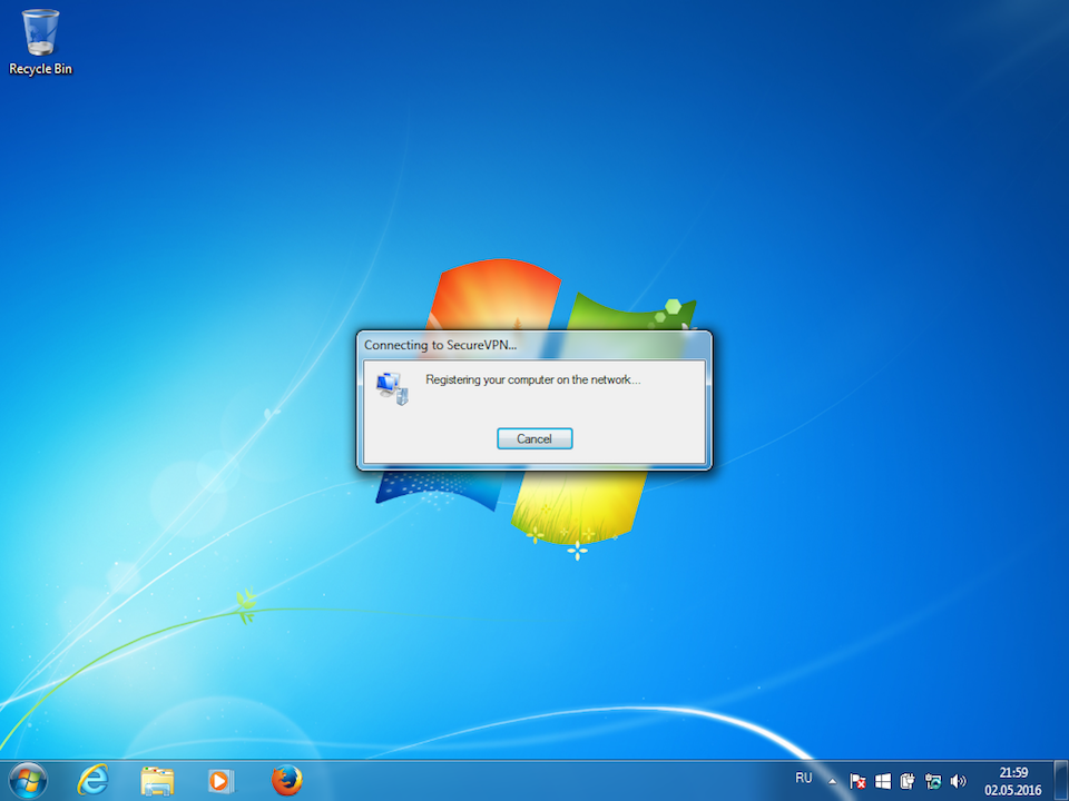 Setting up L2TP VPN on Windows 7, step 14