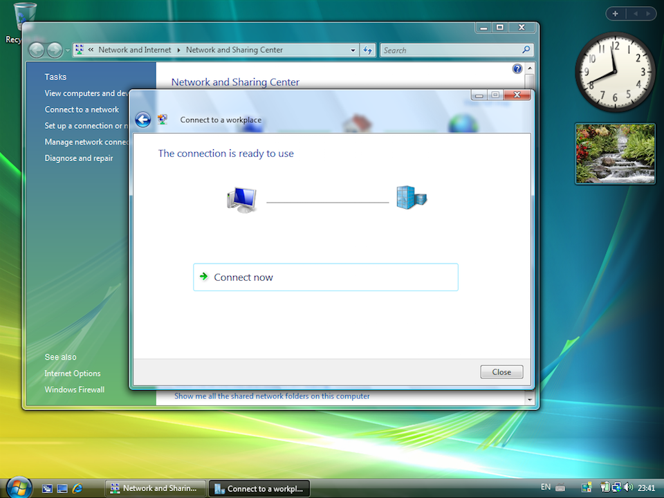 Setting up PPTP VPN on Windows Vista, step 7