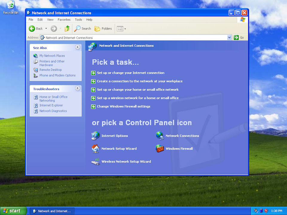 Setting up PPTP VPN on Windows XP, step 1