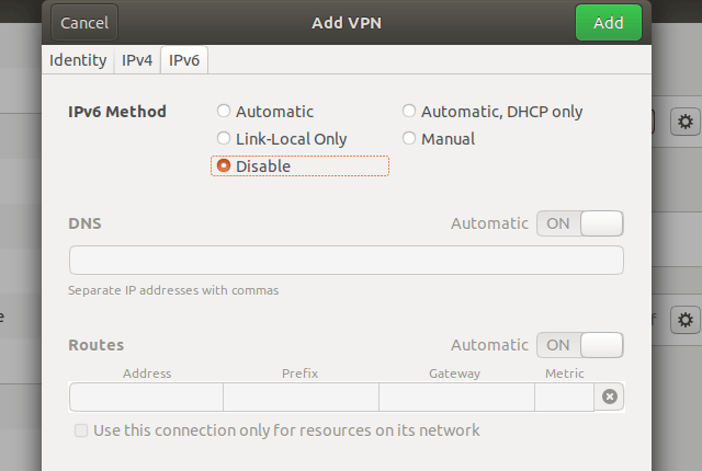 Setting up IKEv2 VPN on Linux Ubuntu 18.04, step 8