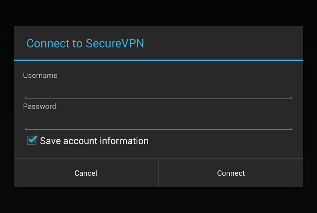 Setting up L2TP VPN on Android, step 6