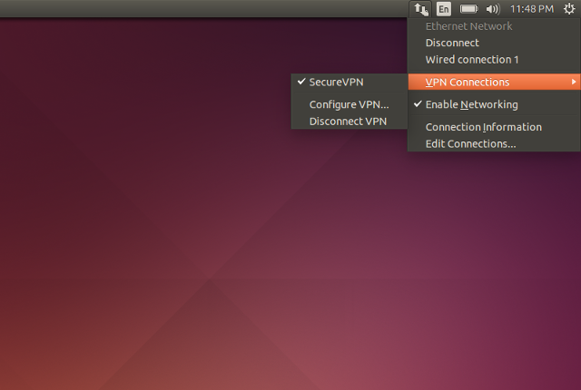 Setting up PPTP VPN on Linux, step 9