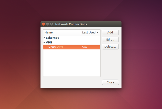 Setting up PPTP VPN on Linux, step 10